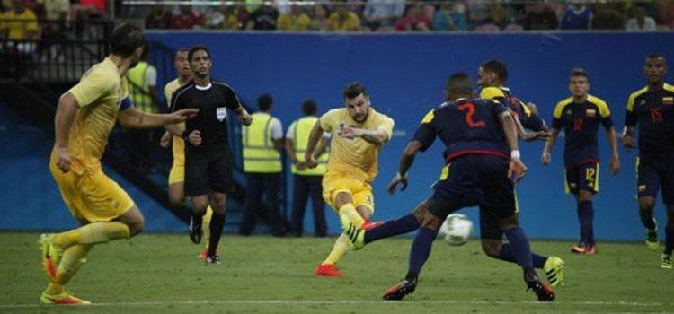 La selección Colombia logró empate con Suecia en su debut olímpico