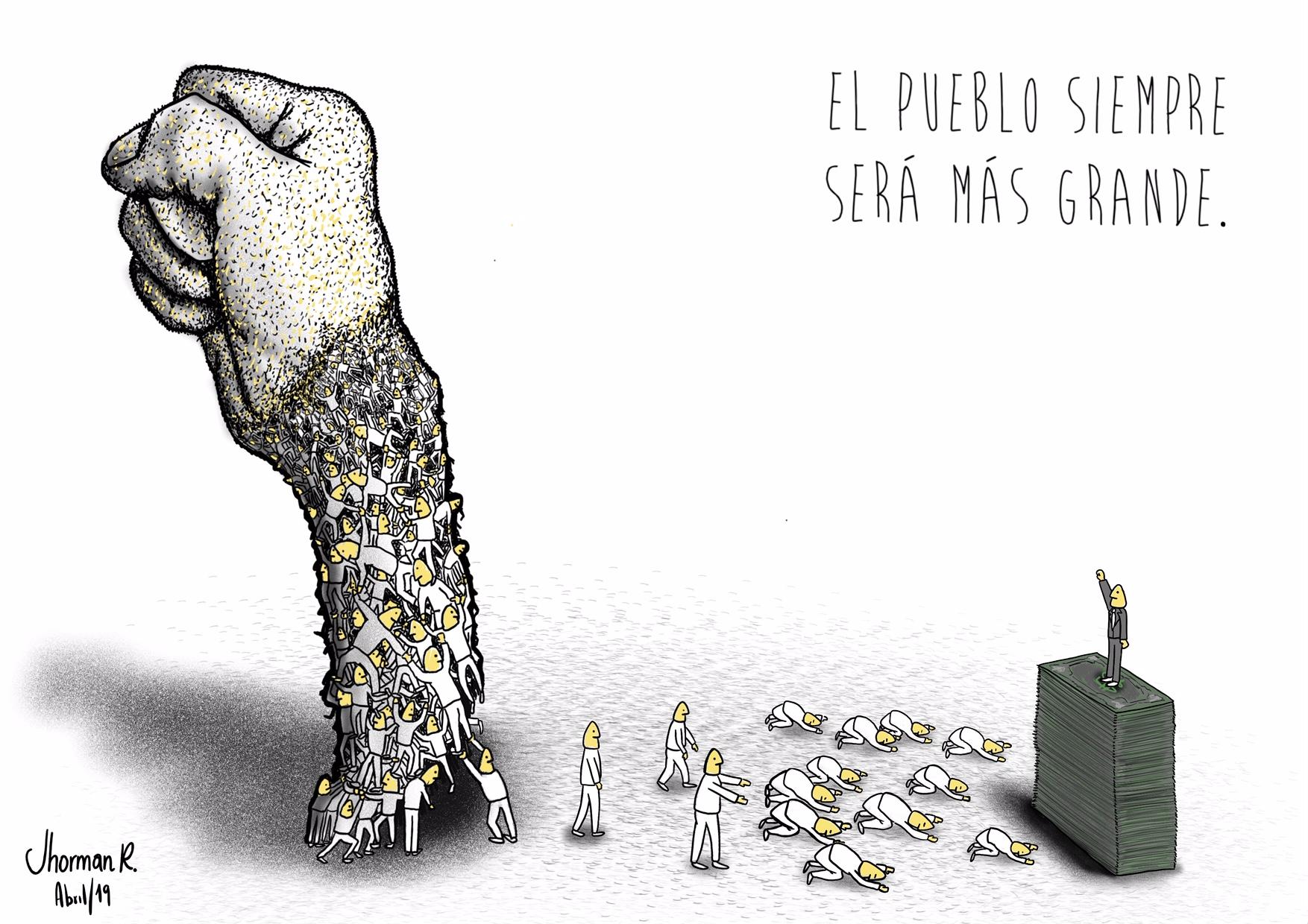Caricatura Simon Bolivar Jhorman