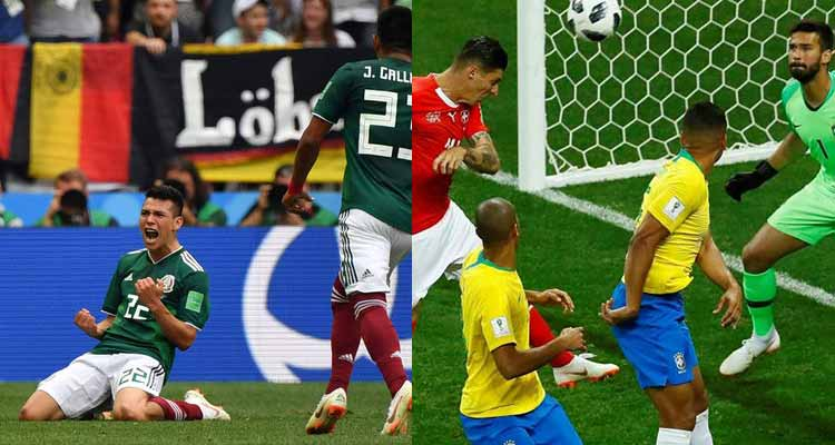 Los batacazos en la jornada del mundial. Alemania y Brasil no pudieron ganar