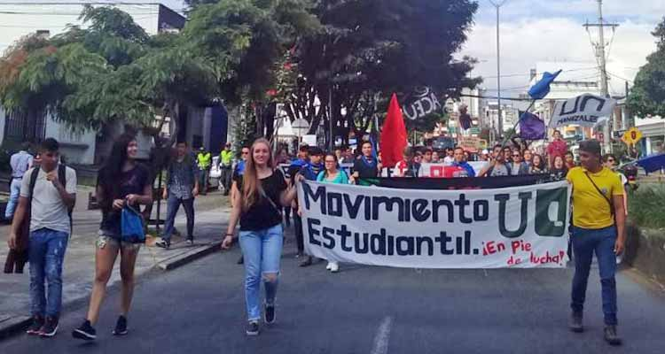 última marcha universidad del Quindío 2018