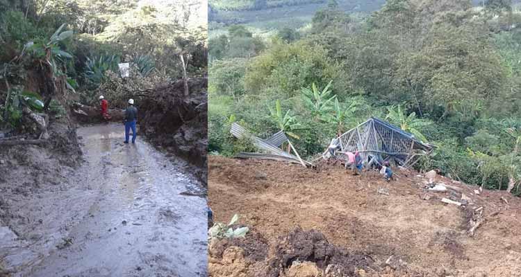 Derrumbe destruyó escuela rural en Calarcá