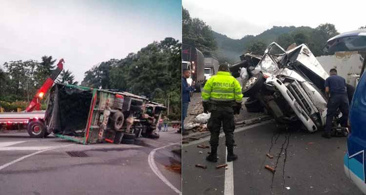 accidentes en carreteras quindianas causaron emergencias