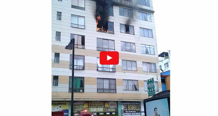 incendio edificio centro Armenia dejó 5 lesionados