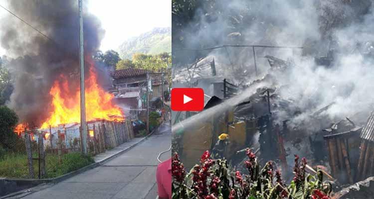 Incendio consumió viviendas en Córdoba