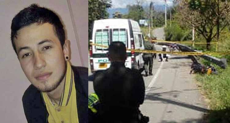 El joven Wilmer García murió y un familiar resultó herido en accidente de moto vía Chagualá