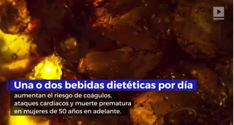 Bebidas dietéticas vinculadas a accidentes cerebrovasculares y ataques cardíacos
