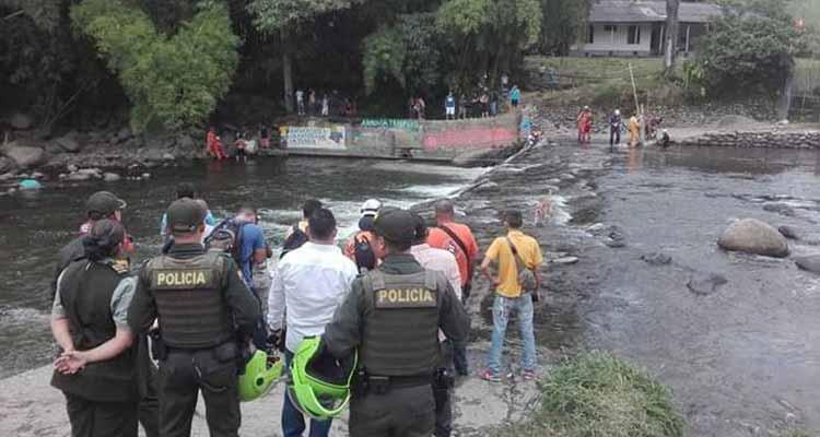 Se ahogó hombre en el río Quindío por el sector de La María