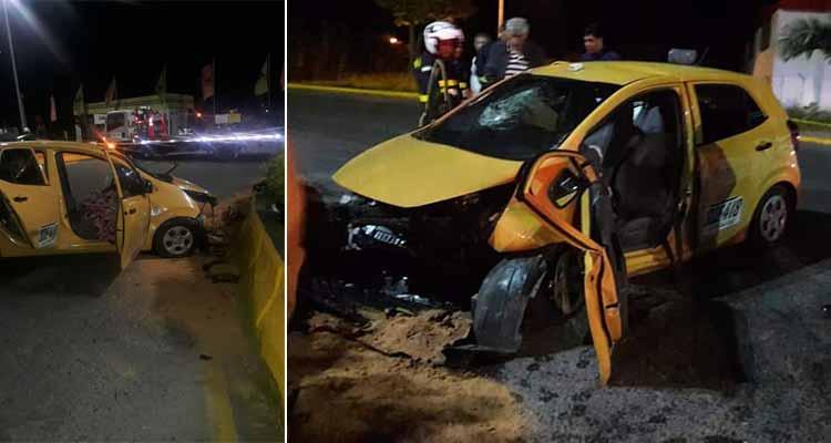 Aparatoso accidente dejó 3 personas heridas en el sur de Armenia