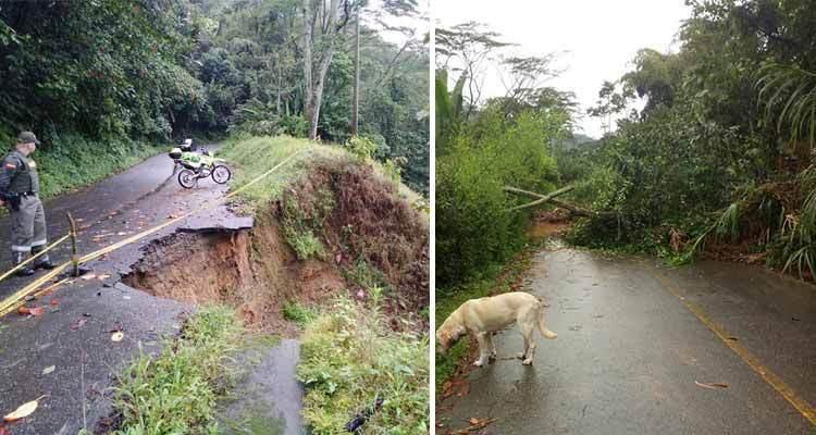 cierre total vía río Verde - Pijao