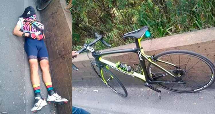 Ciclista murió infarto vía La Línea