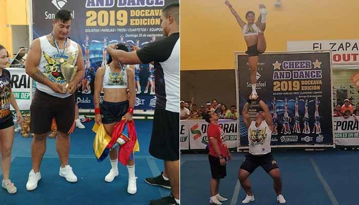 Porristas quindianos título internacional Guatemala