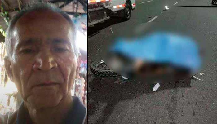 José Ildier motociclista muerto puentes La Cejita Armenia
