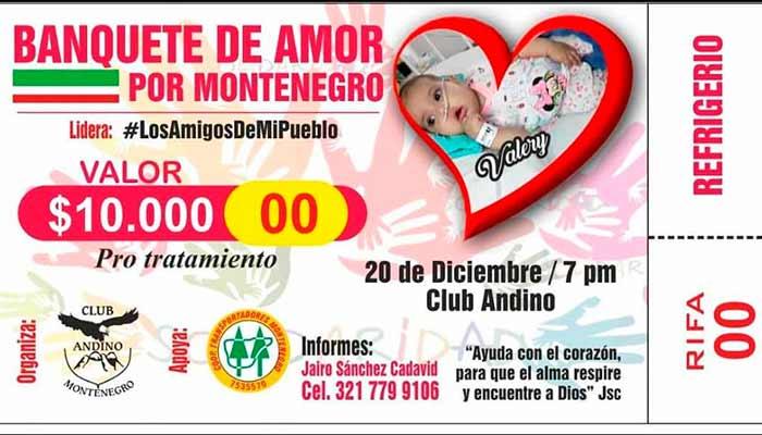 Hoy viernes, jornada de solidaridad en Montenegro por una bebé con grave enfermedad
