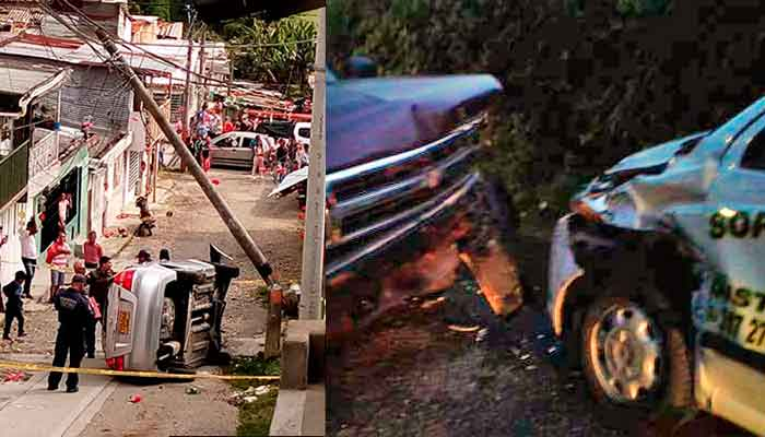 accidentes en Circasia 8 heridos
