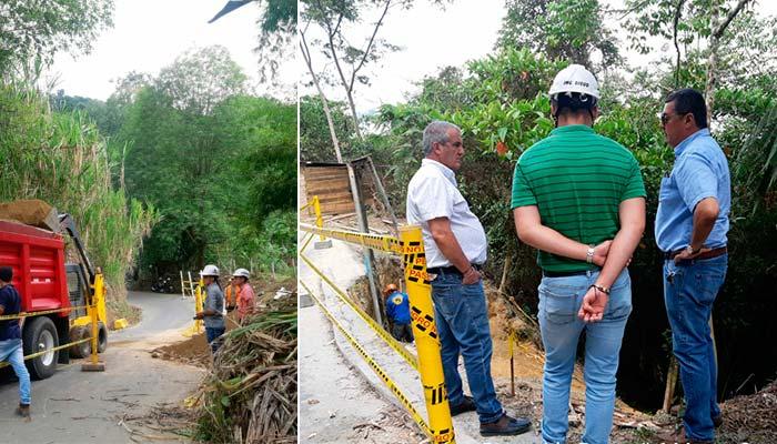 Hasta julio el municipio de Pijao no tendrá habilitada su vía principal