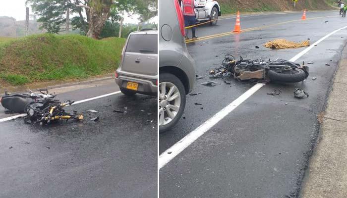 Motociclista murió vía Tebaida - Valle