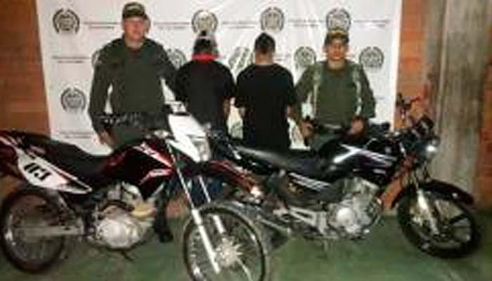capturados motos robadas recuperadas operativos Pijao
