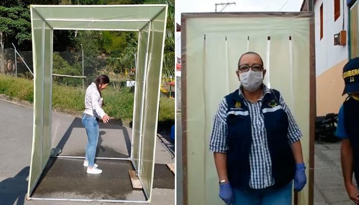 Génova y Salento instalaron cámaras de desinfección a la entrada de sus municipios