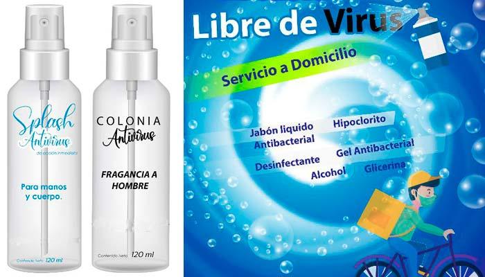 Loción para desinfectar, oler bien y combatir el coronavirus