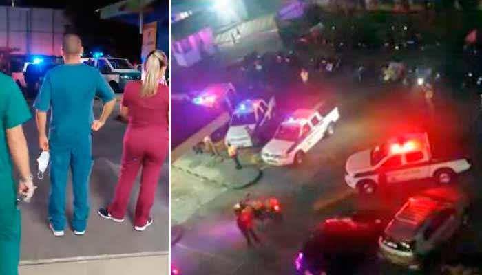 Policía recorrió hospitales del Quindío para aplaudir labor del personal de la salud