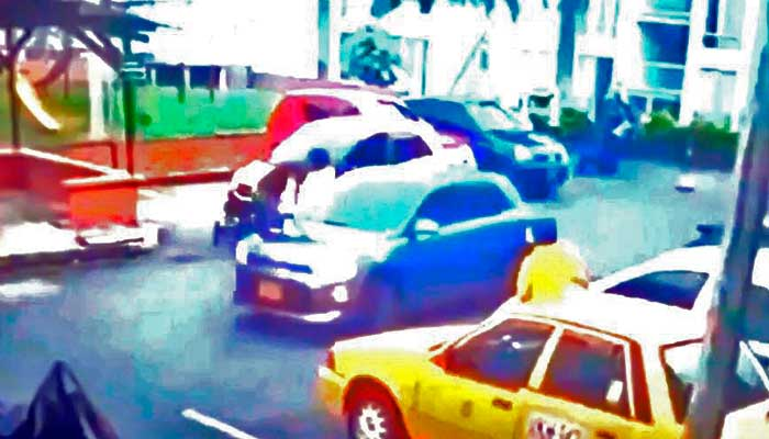En vídeo: Sujetos dispararon con arma neumática y atropellaron taxista en Armenia