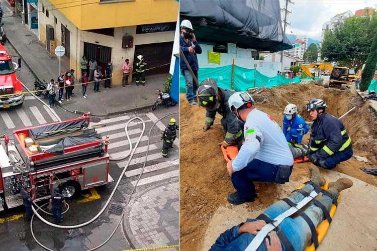 Un incendio y el rescate de 2 obreros en alud de tierra, emergencias este jueves en Armenia