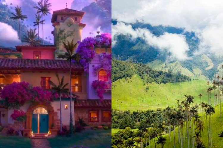 Valle de Cocora Encanto película Disney